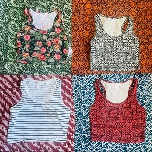 BUNDLE FIVE CROP TOPS for ONLY $20!
